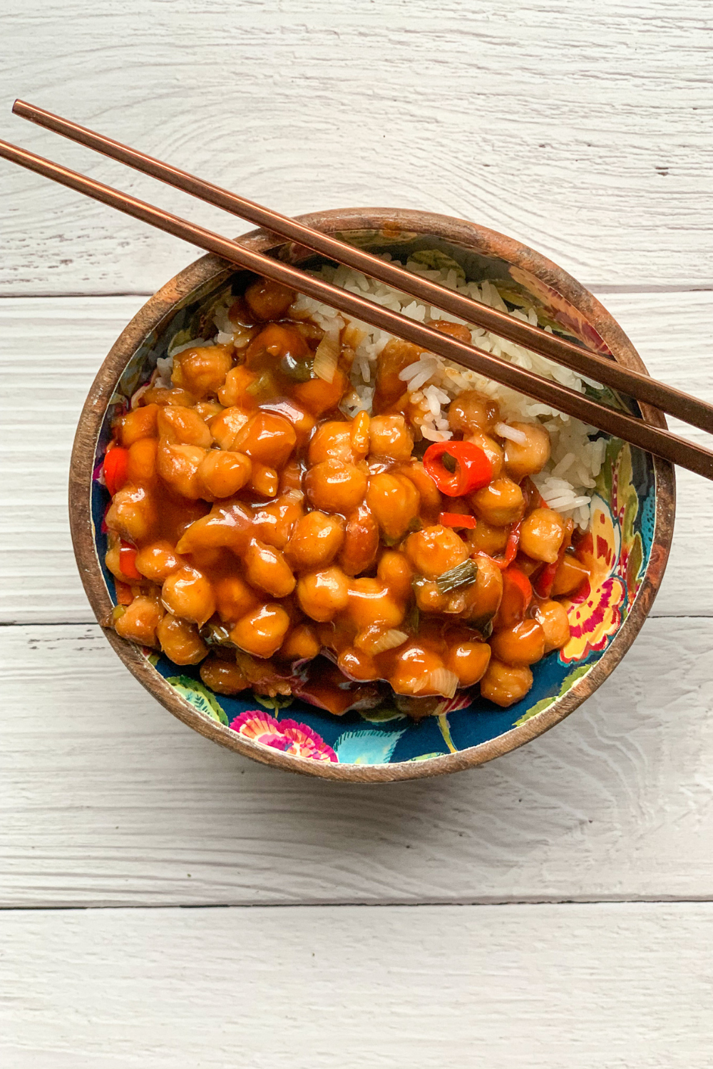 pf changs copycat kung pao chickpeas