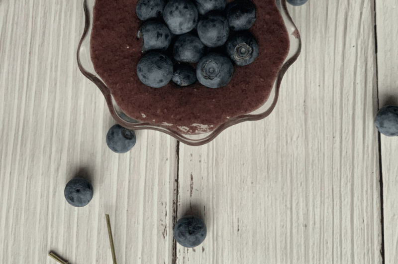 Blueberry Lavender Chia Pudding